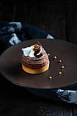 A chocolate and chetnut puree patisserie