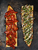 Tomato and anchovy baguette