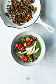 Crunchy green smoothie bowl