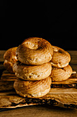 Choux pastry rings