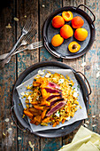Curry couscous with tuna and apricots