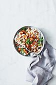 Chicken salpicao noodle stir-fry