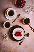 Greek coffee with candied fruits