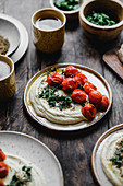 Hummus with roasted tomatoes