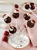 Black Forest Gateau cake pops