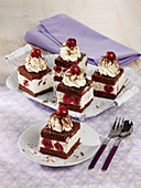 Black Forest Gateau-style ice cream cake