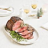 Britischer Rinderfiletbraten zu Weihnachten
