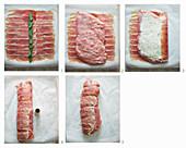 Kalbfleischroulade mit Parmaschinken zubereiten