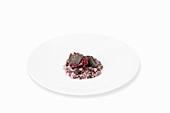 Radicchio risotto with Périgord truffles