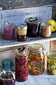 Preserved fruit and vegetables