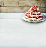 Raspberry and ginger fridge cake