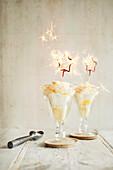 Zitronen Gin und Tonic Eisbecher