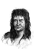 Inca man, 19th Century illustration