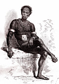 Nuer Chief, 19th Century illustration