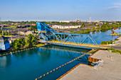 Bascule Bridge over Rouge River, Michigan, USA
