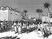 Somali warriors, 19th Century illustration