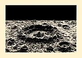 Lunar crater model, 1870s