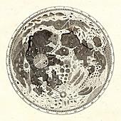 Hevelius's Moon map, 1647