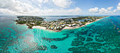 Aerial panoramic view of the south coast of Bermuda