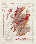 Murchison's New Geological Map of Scotland, 1861