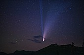 Comet Neowise over Mammoth Mountain, California, USA