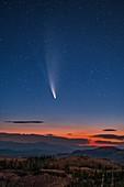 Comet Neowise, Brian Head Peak, Utah, USA