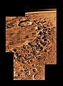 Argyre impact basin, Mars, Viking 1 image