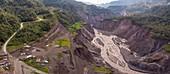 Broken oil pipeline, Coca River gorge, Ecuador, 2020