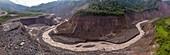 Coca River gorge erosion, Ecuador, August 2020
