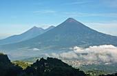 Volcan de Fuego, Acatenango, and Volcan de Agua, Guatemala