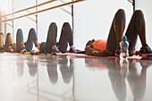 Women resting on backs