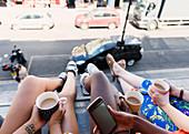 Women friends drinking coffee