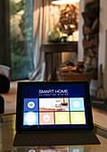 Smart home automation system on digital tablet