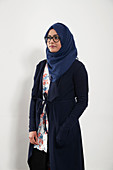 Portrait teenage girl wearing hijab
