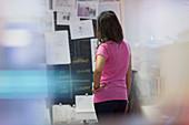 Creative businesswoman planning in office