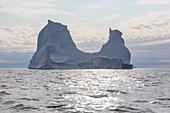 Majestic iceberg formation on Atlantic Ocean Greenland