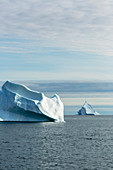 Majestic iceberg formations on Atlantic Ocean Greenland