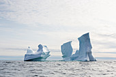 Majestic iceberg formations on Atlantic Ocean Greenland