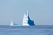 Majestic iceberg formations over tranquil