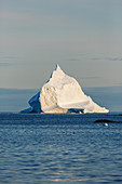 Majestic iceberg formation on tranquil