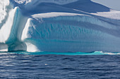 Majestic iceberg over blue Atlantic Ocean Greenland