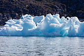 Melting polar ice on Atlantic Ocean Greenland