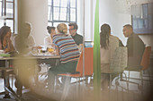 Designers brainstorming in conference room meeting