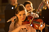 Violinist performing