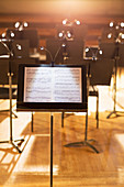 Music sheet on stand