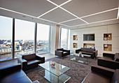 Modern highrise business office lobby