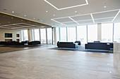 Empty urban business office lobby
