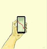 Downward trend, illustration