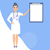 Medical consultation, illustration