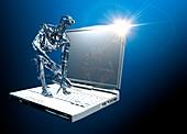 AI cyber security, conceptual illustration